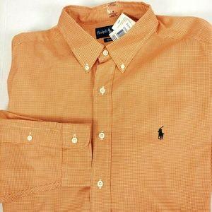 Ralph Lauren Classic Fit Button Down Orange Shirt